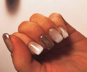 diy, mirror nails, and manicure image