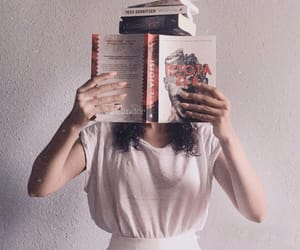 aesthetic, books, and thin image