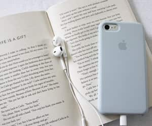 book, blue, and music image