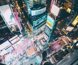 cities, neon, and new york image