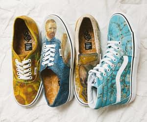 shoes, vans, and vincent van gogh image