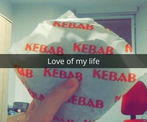 dinner, kebab, and snapchat image
