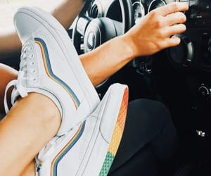 rainbow, shoes, and sneakers image
