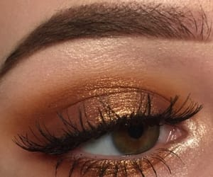 makeup, gold, and eyes image