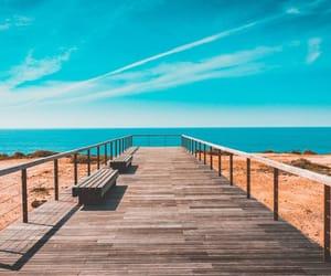 beach, bridge, and summer image