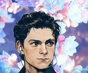 flowers, spiderman, and tom holland image