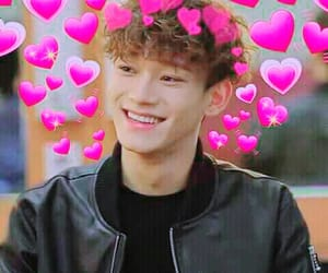 hearts, pink, and xiumin chen image