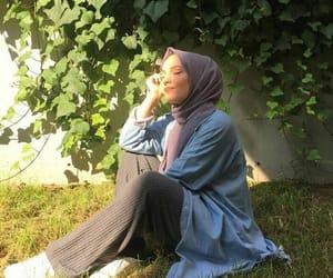 hijab, islam, and اسﻻم image