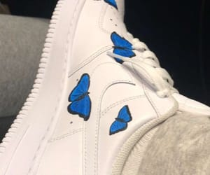 blue, shoes, and air forces image