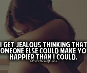 girl, happy, and jealous image