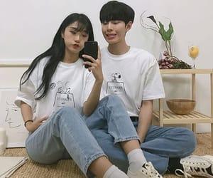 couple, grunge, and korean fashion image