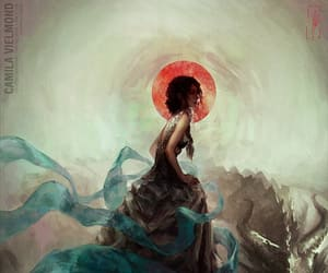 redhead dragon watercolor and camila vielmond art image