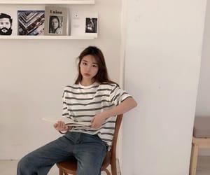 aesthetic, girl, and kfashion image