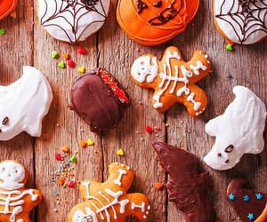 Halloween, Cookies, and autumn image