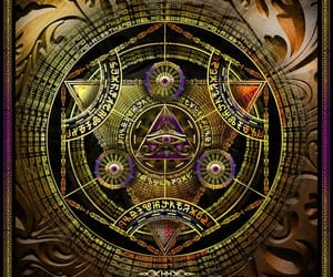 alien, triangle, and sacredgeometry image