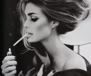 black and white, cigarettes, and vintage image