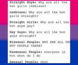 asexual, pansexual, and bisexual image