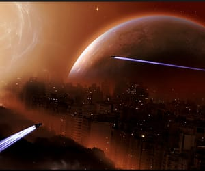 science fiction, sci-fi-art, and alien planet image