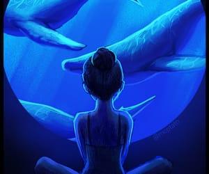 aquarium, art, and blue image