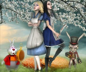 alice, alice in wonderland, and march hare image