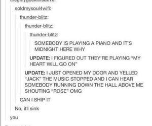 funny, titanic, and tumblr image