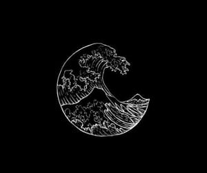 wallpaper, waves, and black image
