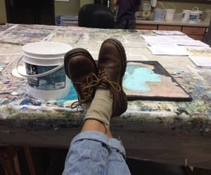 art, grunge, and shoes image