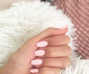 nails, pink, and loveit image