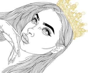 art, drawings, and girl image