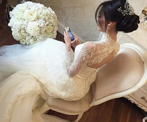 bride, dreams, and wedding dress image