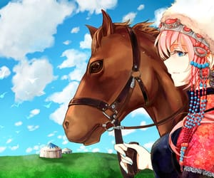 horse, vocaloid, and megurine luka image