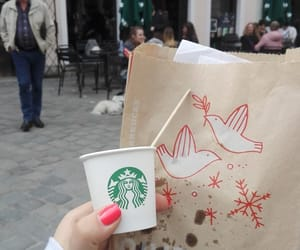 biscuits, coffee, and starbucks image