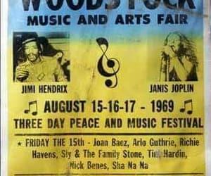 woodstock, 1969, and janis joplin image