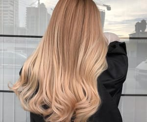 blonde, hair, and hairstyle image