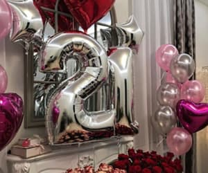 surprise, 21, and balloons image