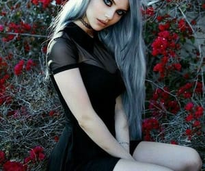hair, goth, and beauty image