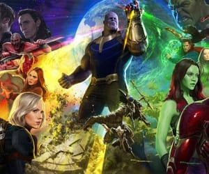Marvel, Avengers, and infinity war image