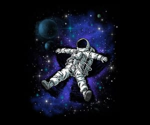 space, astronaut, and astronauta image
