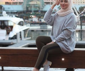 arab, city, and hijab image