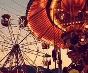 aesthetic, amusement park, and lights image