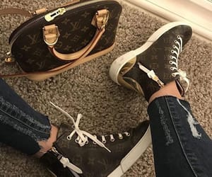 sneakers, louisvuitton, and girly girls girl image