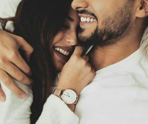 couple, laugh, and hold image