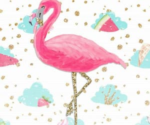 background, flamingo, and glitter image