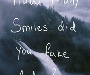 smile, fake, and sad image