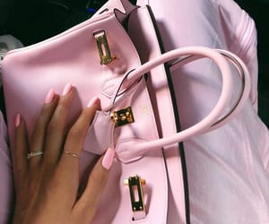 pink, nails, and bag image