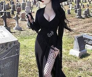 black, dress, and funeral image