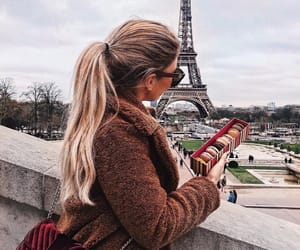 blonde, girl, and city image