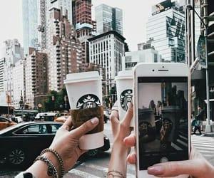 starbucks, city, and coffee image