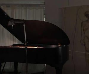 piano, aesthetic, and dark image