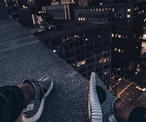 city, sneakers, and light image